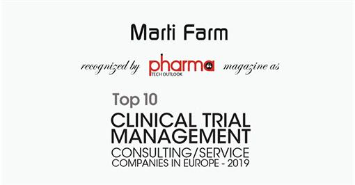 Marti Farm u TOP 10 konzultantskih kompanija za klinička ispitivanja u Europi!